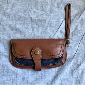 Lucky Brand Brown Leather Wallet/Wristlet